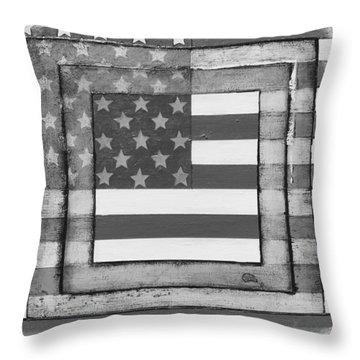 American Flag Throw Pillow by Steve  Hester