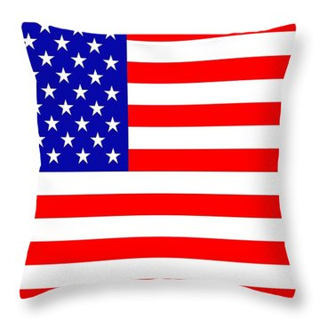 American Flag Throw Pillow by Tommytechno Sweden