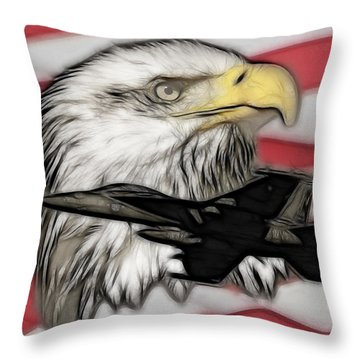 American Flying Eagle Throw Pillow