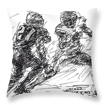 American Football 4 Throw Pillow