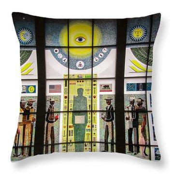 American Freemason Window Art Throw Pillow