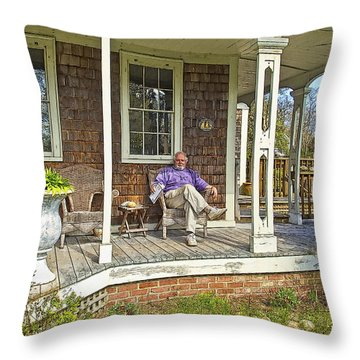 Throw Pillow featuring the photograph American Gothic by Constantine Gregory