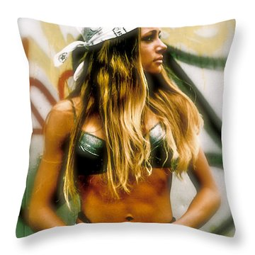 American Grunge  Throw Pillow by Iconic Images Art Gallery David Pucciarelli