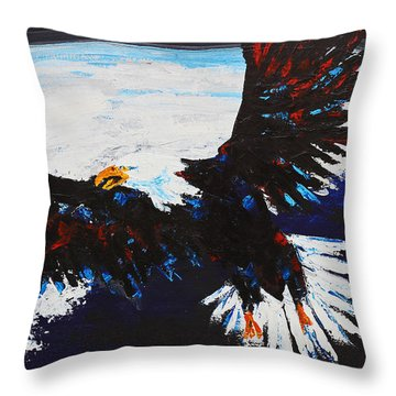 American Guardian Throw Pillow by Patricia Olson