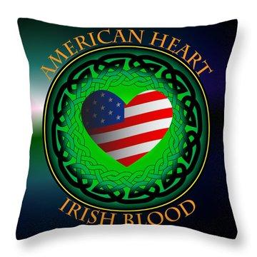 American Heart Irish Blood Throw Pillow