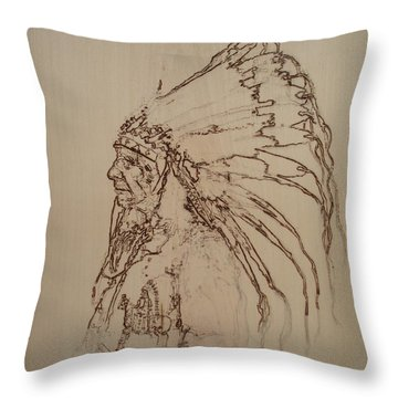American Horse - Oglala Sioux Chief - 1880 Throw Pillow by Sean Connolly