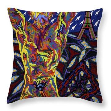 American In Paris Throw Pillow by Robert SORENSEN