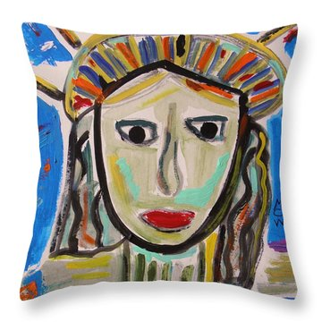 American Lady Throw Pillow by Mary Carol Williams