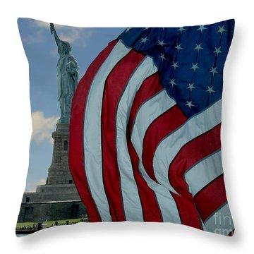 American Liberty Throw Pillow