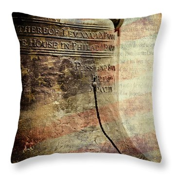 American Liberty Throw Pillow