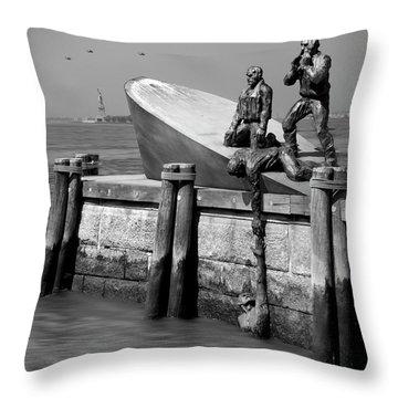 American Merchant Mariners Memorial Throw Pillow by Mike McGlothlen