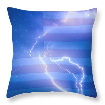 American Mother Nature's Fireworks  Throw Pillow by James BO  Insogna