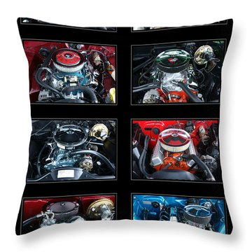 American Muscle Throw Pillow by Olivier Le Queinec