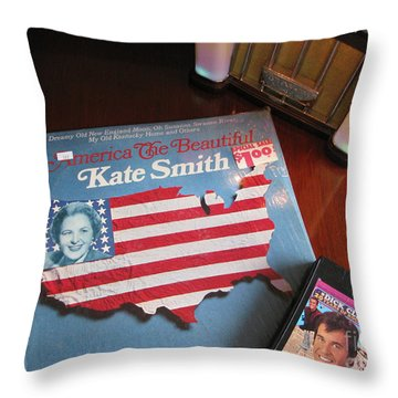 Throw Pillow featuring the photograph American Music by Michael Krek