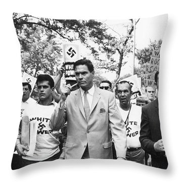 American Nazi Party March Throw Pillow