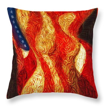 American Nude Throw Pillow by Joseph J Stevens