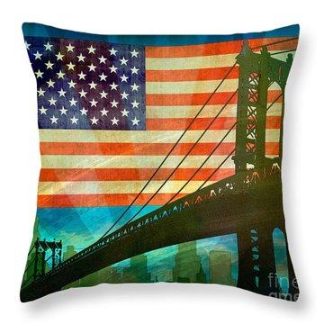 American Pride Throw Pillow by Bedros Awak
