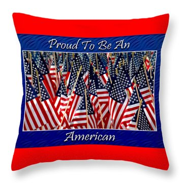American Pride Throw Pillow by Carolyn Marshall