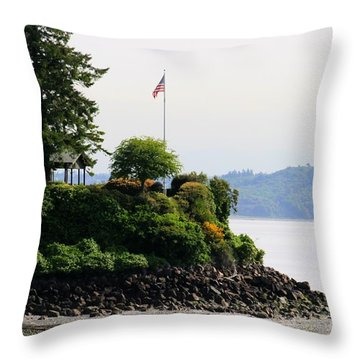 American Pride Throw Pillow by Tap On Photo