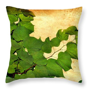 American Redbud Throw Pillow