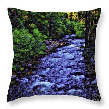 American River-d Throw Pillow