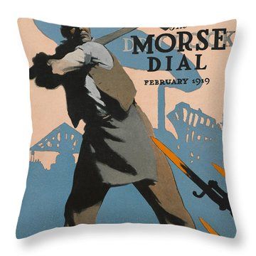 American Shipbuilder Throw Pillow by Edward Hopper