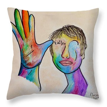 American Sign Language  Father Throw Pillow by Eloise Schneider