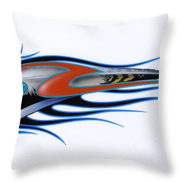 Throw Pillow featuring the painting American Sprit  by Alan Johnson