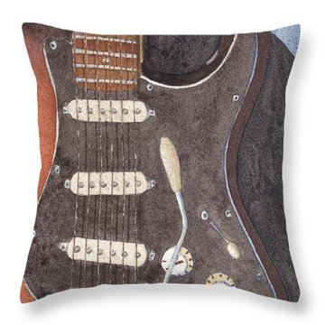 American Standard Two Throw Pillow by Ken Powers