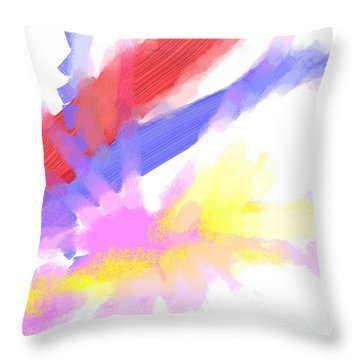 American Sunrise Throw Pillow by George Pedro