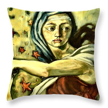 American Sybil Throw Pillow by Carrie Joy Byrnes