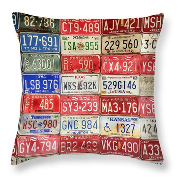 American Transportation Throw Pillow