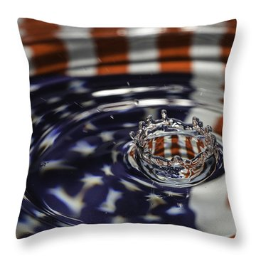 Throw Pillow featuring the photograph American Water Crown by Betty Denise