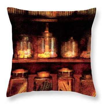 Americana - Candy Throw Pillow by Mike Savad