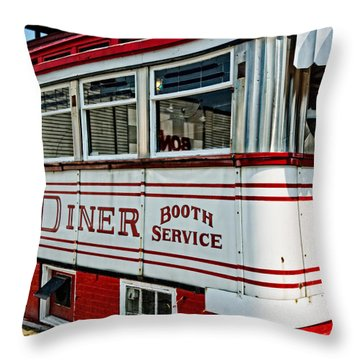 Americana Classic Dinner Booth Service Throw Pillow by Edward Fielding