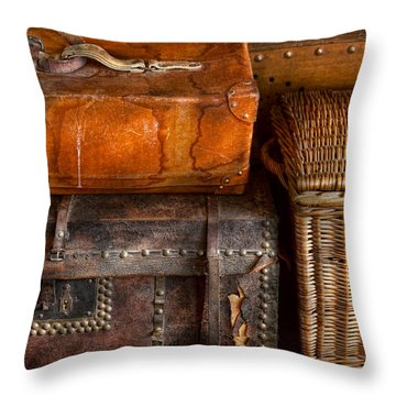 Americana - Emotional Baggage  Throw Pillow by Mike Savad