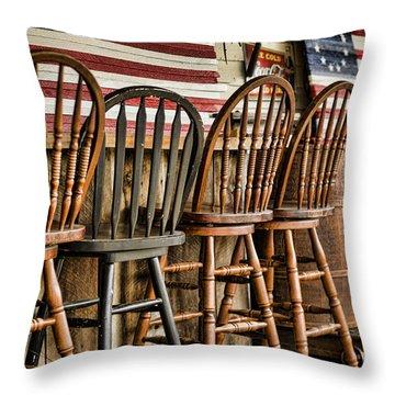 Americana Throw Pillow by Heather Applegate