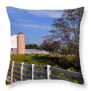 Missouri Americana Throw Pillow