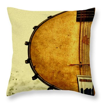 Americana Music Throw Pillow by Bill Cannon