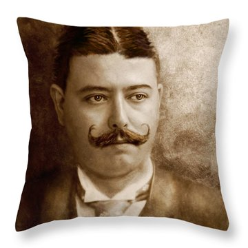 Americana - People - The Boss Throw Pillow by Mike Savad