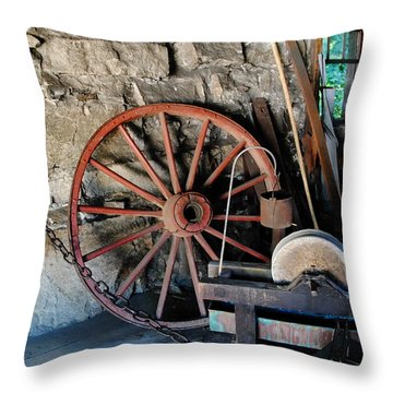 Throw Pillow featuring the photograph Americana - Sturbridge Mass by Jacqueline M Lewis