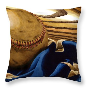 America's Pastime 3 Throw Pillow