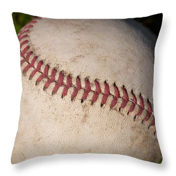 America's Pastime - Baseball Throw Pillow by David Patterson