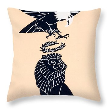 America's Tribute To Britain Throw Pillow