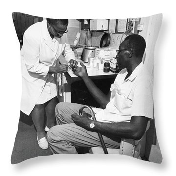 Americorps Volunteer 1971 Throw Pillow by Granger