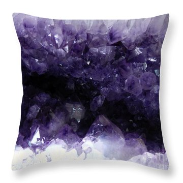 Amethyst Geode Throw Pillow by Amar Sheow
