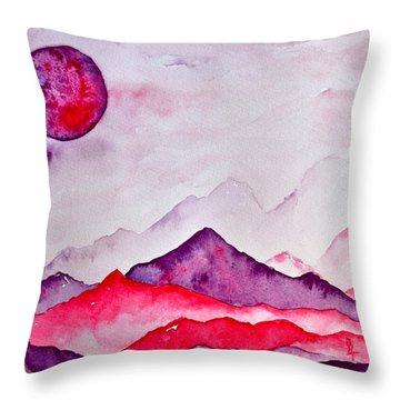Amethyst Range Throw Pillow by Beverley Harper Tinsley