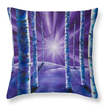 Amethyst Winter Throw Pillow