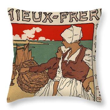 Amieux Freres Throw Pillow