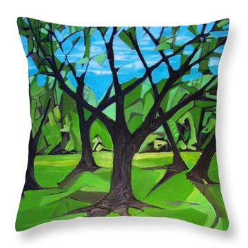 Amigos - Trees Botanicals Throw Pillow by Grace Liberator